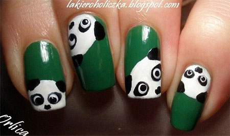 Simple-Panda-Nail-Art-Designs-Ideas-2013-2014- - Simple Panda Nail Art Designs & Ideas 2013/ 2014 Fabulous Nail Art