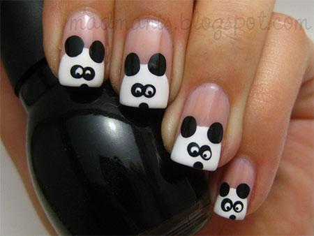Simple-Panda-Nail-Art-Designs-Ideas-2013-2014-9