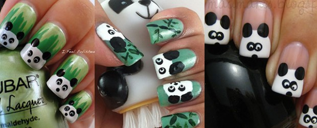 Simple-Panda-Nail-Art-Designs-Ideas-2013-2014