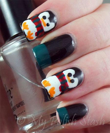 Simple-Penguin-Nail-Art-Designs-Ideas-2013-2014-10
