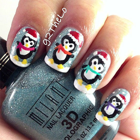 Simple-Penguin-Nail-Art-Designs-Ideas-2013-2014-1