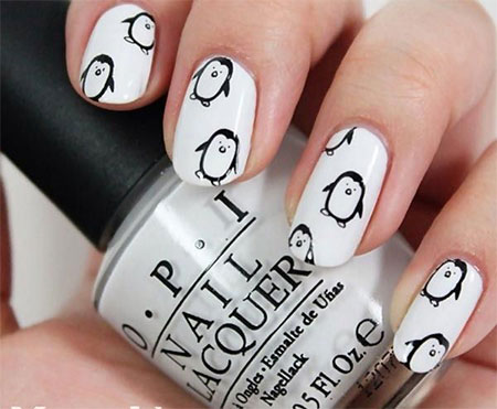 Simple-Penguin-Nail-Art-Designs-Ideas-2013-2014-2
