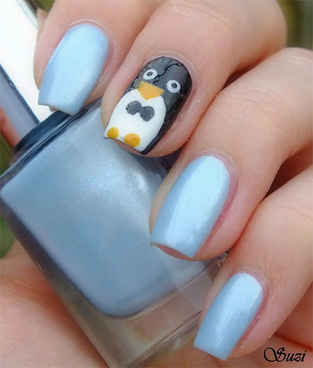 Simple-Penguin-Nail-Art-Designs-Ideas-2013-2014-3