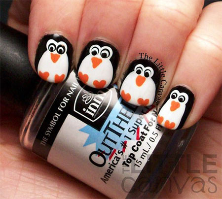 Simple-Penguin-Nail-Art-Designs-Ideas-2013-2014-5