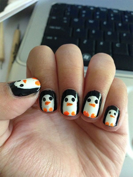 Simple-Penguin-Nail-Art-Designs-Ideas-2013-2014-7