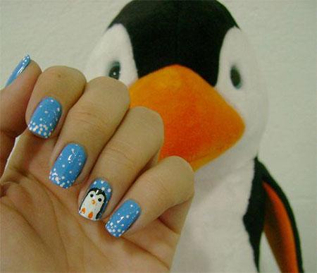 Simple-Penguin-Nail-Art-Designs-Ideas-2013-2014-8