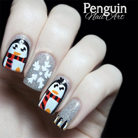 Simple-Penguin-Nail-Art-Designs-Ideas-2013-2014-8
