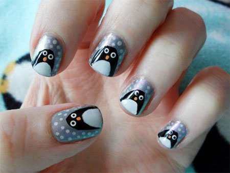 Simple-Penguin-Nail-Art-Designs-Ideas-2013-2014-9