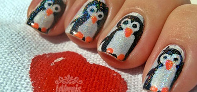 Simple-Penguin-Nail-Art-Designs-Ideas-2013-2014