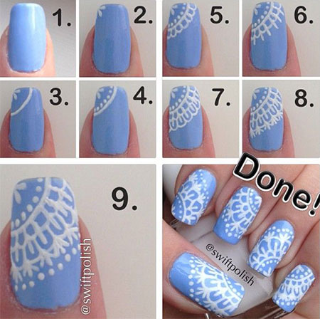 Step By Step Winter Nail Art Tutorials 2013/ 2014 For Beginners