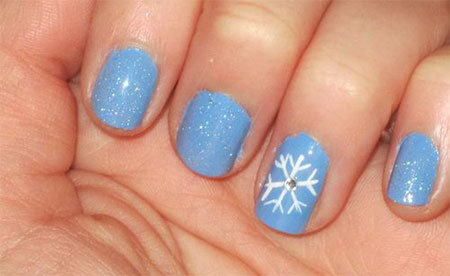Very-Easy-Winter-Nail-Art-Designs-2013-2014-For-Beginners-Learners-10