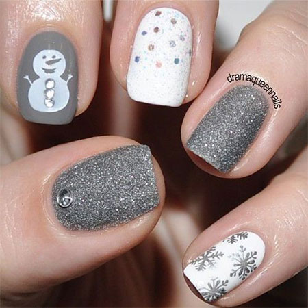 Very-Easy-Winter-Nail-Art-Designs-2013-2014-For-Beginners-Learners-3