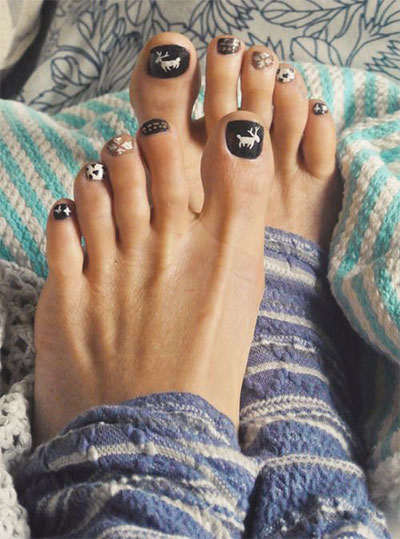 Winter Toe Nail Art Designs Ideas For Girls