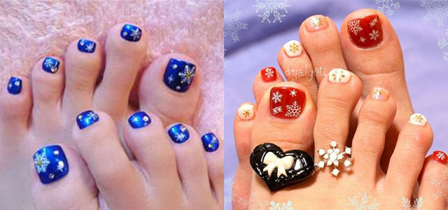 Winter Toe Nail Art Designs Ideas For Girls 2013 2014