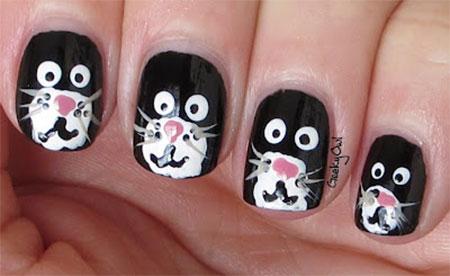 Amazing-Black-Cat-Nail-Art-Designs-Ideas-2014-2015-10