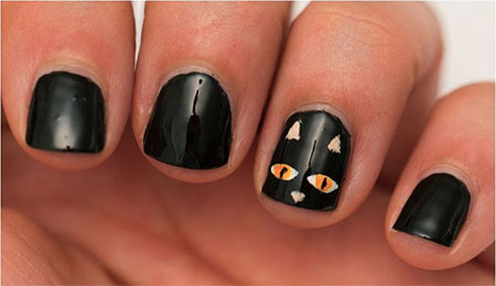 Amazing-Black-Cat-Nail-Art-Designs-Ideas-2014-2015-11