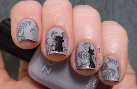 Amazing-Black-Cat-Nail-Art-Designs-Ideas-2014-2015-12