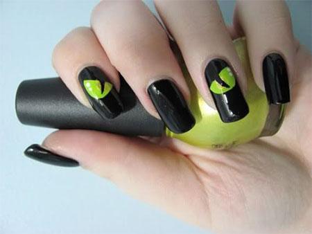 Amazing-Black-Cat-Nail-Art-Designs-Ideas-2014-2015-13