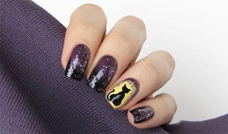 Amazing-Black-Cat-Nail-Art-Designs-Ideas-2014-2015-14