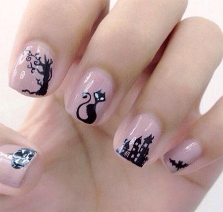 Amazing-Black-Cat-Nail-Art-Designs-Ideas-2014-2015-4