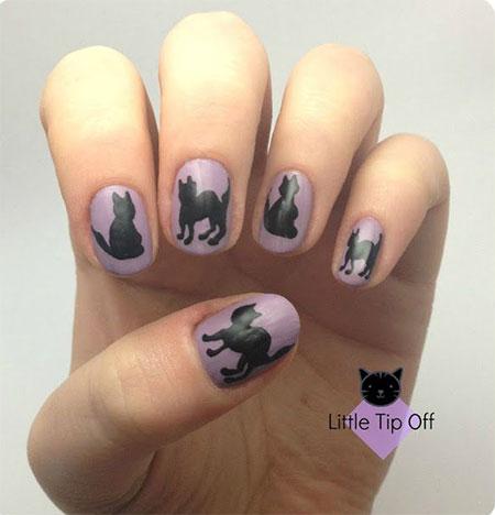 Amazing-Black-Cat-Nail-Art-Designs-Ideas-2014-2015-6