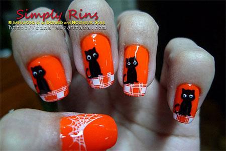 Amazing-Black-Cat-Nail-Art-Designs-Ideas-2014-2015-8