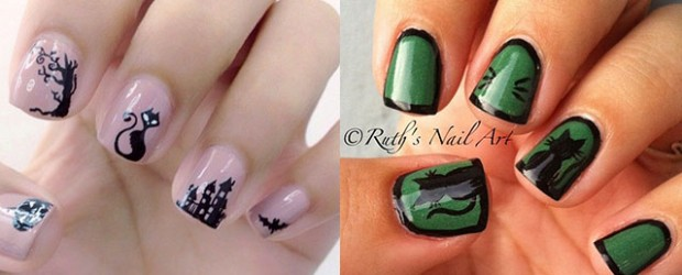 Amazing-Black-Cat-Nail-Art-Designs-Ideas-2014-2015