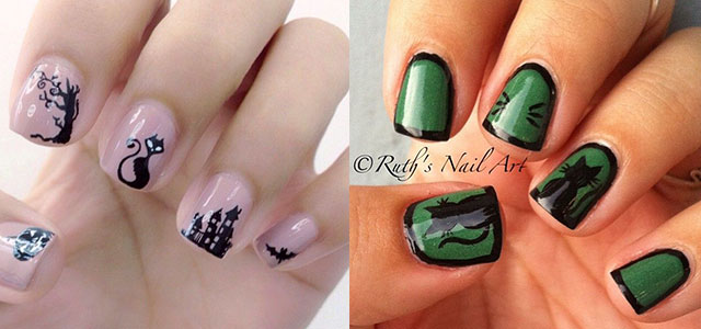 Amazing Black Cat Nail Art Designs U0026 Ideas 2014/ 2015 | Fabulous Nail Art  Designs