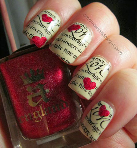 Amazing-Love-Letter-Nail-Art-Designs-Ideas-2014-1