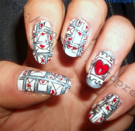 Amazing-Love-Letter-Nail-Art-Designs-Ideas-2014-8
