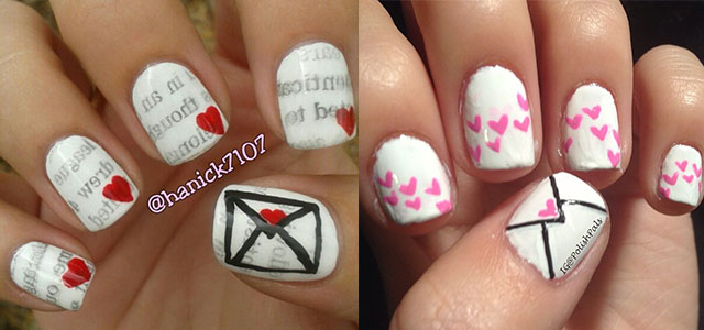 Amazing-Love-Letter-Nail-Art-Designs-Ideas-2014