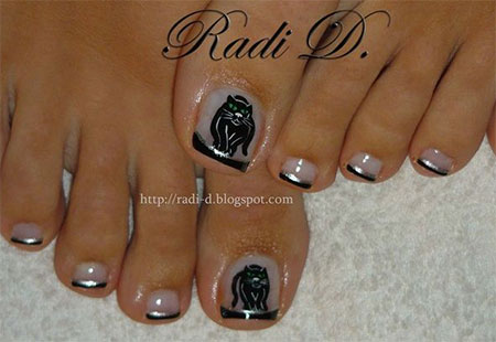 Cat-Face-Toe-Nail-Art-Designs-Ideas-2014-For-Girls-4