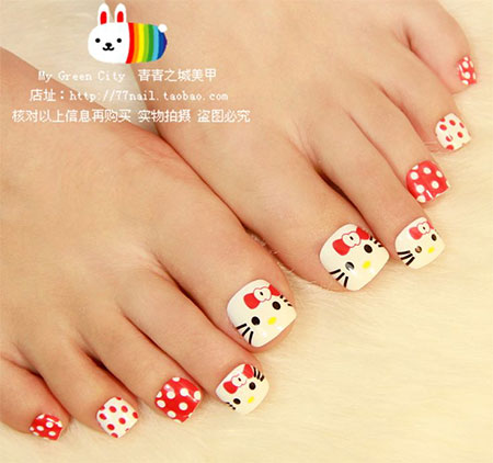 Cat-Face-Toe-Nail-Art-Designs-Ideas-2014-For-Girls-5