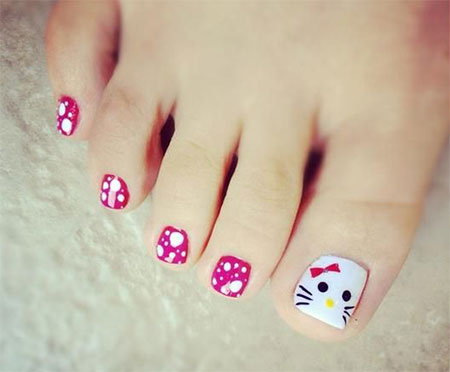 Cat-Face-Toe-Nail-Art-Designs-Ideas-2014-For-Girls-6