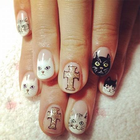 Cute-Cat-Face-Nail-Art-Designs-Ideas-2013-2014-1