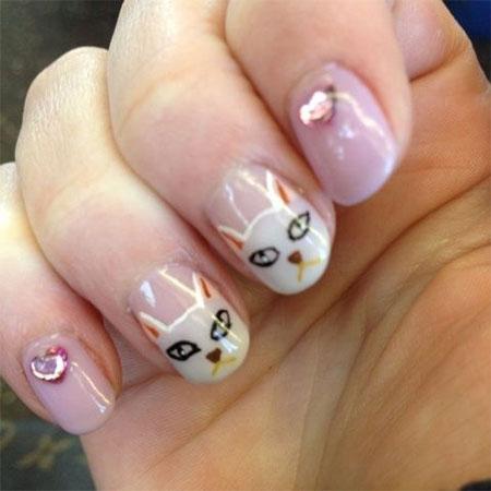 Cute-Cat-Face-Nail-Art-Designs-Ideas-2013-2014-10