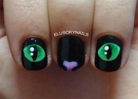 Cute-Cat-Face-Nail-Art-Designs-Ideas-2013-2014-2