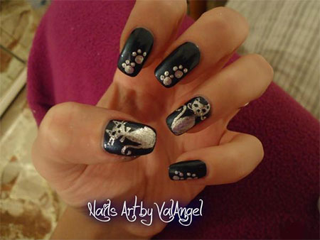 Cute-Cat-Face-Nail-Art-Designs-Ideas-2013-2014-7