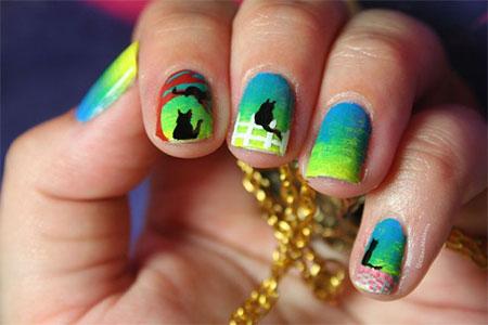 Cute-Cat-Face-Nail-Art-Designs-Ideas-2013-2014-8