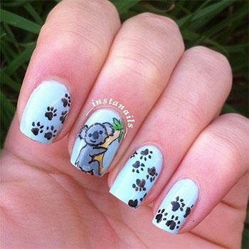 Cute-Koala-Nail-Art-Designs-Ideas-2013-2014-2