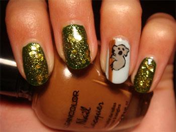 Cute-Koala-Nail-Art-Designs-Ideas-2013-2014-4