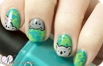 Cute-Koala-Nail-Art-Designs-Ideas-2013-2014-5