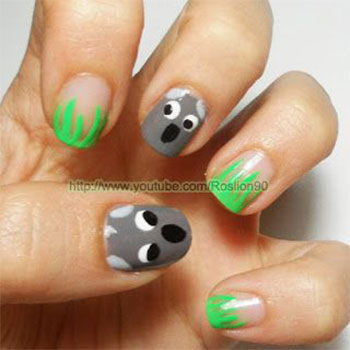 Cute-Koala-Nail-Art-Designs-Ideas-2013-2014-6