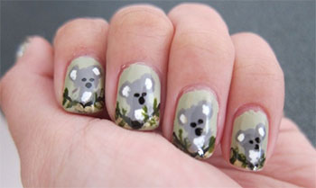 Cute-Koala-Nail-Art-Designs-Ideas-2013-2014-9