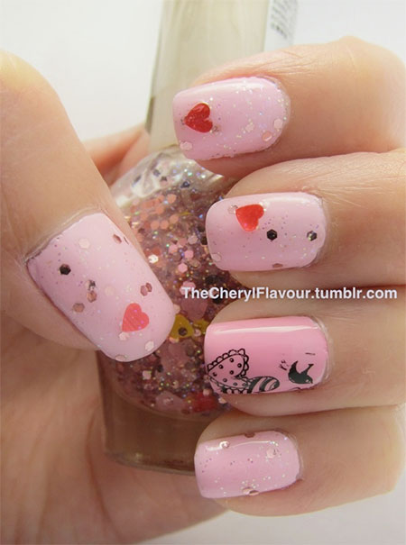 Cute-Little-Heart-Nail-Art-Designs-Ideas-2014-For-Valentines-Day-2