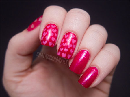 Cute-Little-Heart-Nail-Art-Designs-Ideas-2014-For-Valentines-Day-7