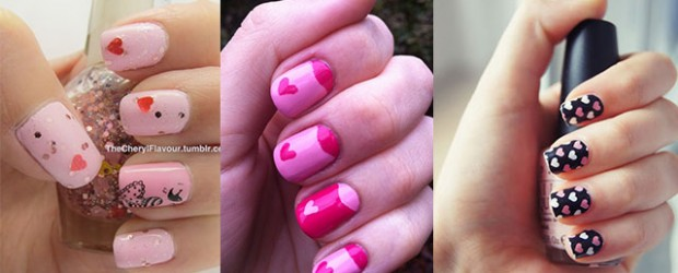 Cute Little Heart Nail Art Designs U0026 Ideas 2014 For Valentineu0027s Day