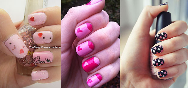 Cute-Little-Heart-Nail-Art-Designs-Ideas-2014-For-Valentines-Day