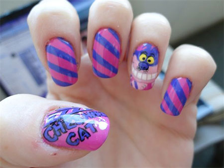 Easy-Cat-Face-Nail-Art-Designs-Ideas-2013-2014-4