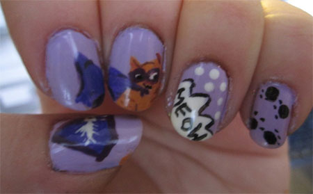 Easy-Cat-Face-Nail-Art-Designs-Ideas-2013-2014-9